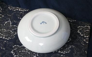 山中窯,外径16.5cm×高4cm,磁器