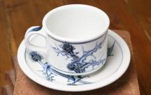 砥部焼◆カップ&ソーサ■あざみ