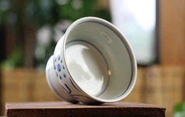 梅山窯,口径10cm×全高7cm,磁器