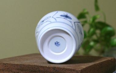 梅山窯,口径8.5cm×高7cm,磁器