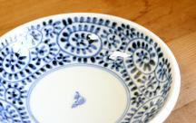 砥部焼◆ 蛸唐草の玉縁皿  6寸