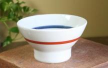 砥部焼◆くらわんか茶碗(小)■朱線紋