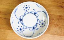 砥部焼◆切立丸皿(4.6寸)■太陽