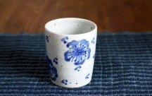 砥部焼◆お花柄のフリーカップ(大)