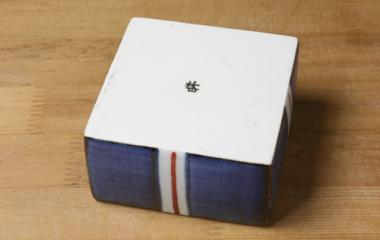 梅山窯,約1辺10cm×高さ約5cm,磁器