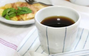 砥部焼◆カップ***ライン
