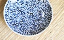 砥部焼◆6寸皿*蛸唐草