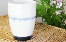 砥部焼◆大き目フリーカップ*帯