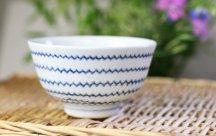 砥部焼◆茶碗*波
