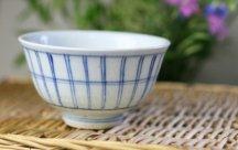 砥部焼◆茶碗*格子