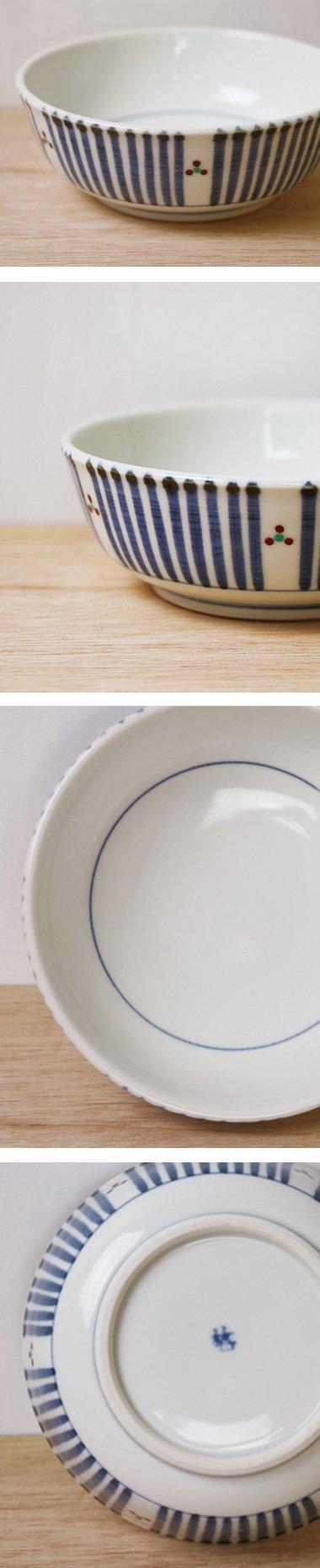 梅山窯,外径14cm×高さ5.2cm,磁器