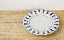 砥部焼◆5寸リム皿 よろけ紋