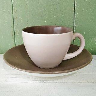 Poole Pottery 「Sepia & Mushroom デミタスC&S」