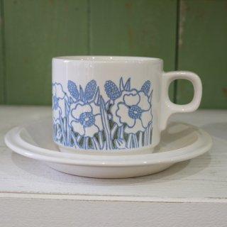Hornsea 「Fleur(blue) カップ&ソーサー」
