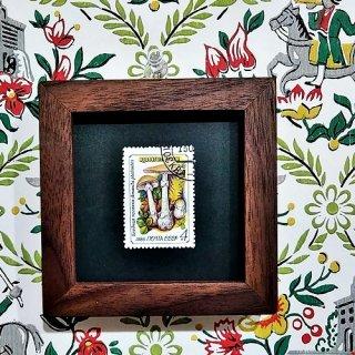 キノコの額「Vintage きのこ切手」 (T)
