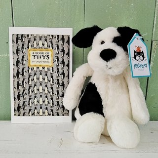Jellycat「Bashful Black&Cream Puppy S」(イヌ・Sサイズ)