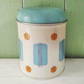 Worcester ware「水色×オレンジ キャニスター缶」