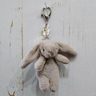 Jellycat「Bashful Bunny Beige Bag Charm」(バニー・バッグチャーム)ベージュ