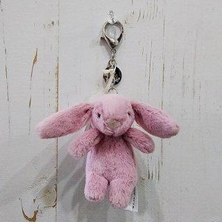 Jellycat「Bashful Bunny Pink Bag Charm」(バニー・バッグチャーム)ピンク