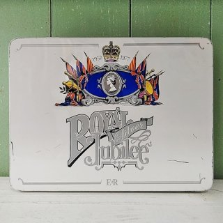 「エリザベス女王 1977年 Silver Jubilee レターセット缶 (封筒・便せん付き)」