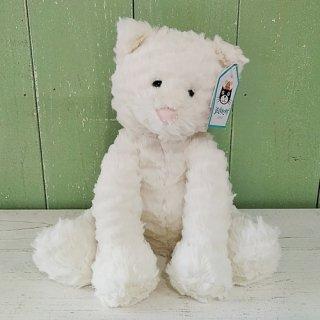 Jellycat「Fuddlewuddle Kitty」Mサイズ(白ねこ)