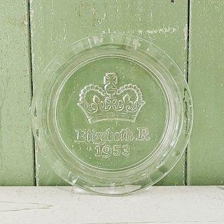 「エリザベス女王 戴冠記念 ガラス製アッシュトレイ(1953年)」