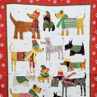ティータオル「UlsterWeavers・SNOW DOGS(雪の犬たち) 」