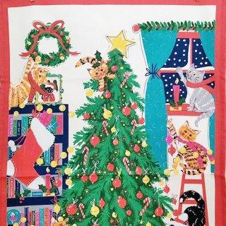 ティータオル「UlsterWeavers・CHRISTMAS TREE CAT(クリスマスツリー&ねこ) 」