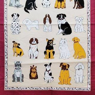 ティータオル「UlsterWeavers・DOGS GARORE(たくさんの犬たち)」