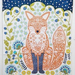 ティータオル「UlsterWeavers・Woodland Fox(森のキツネ)」