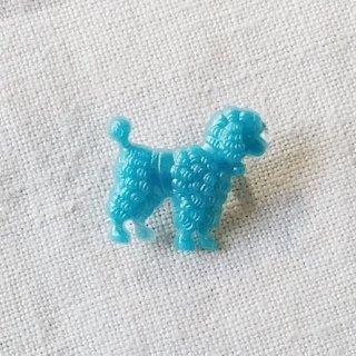 英国acorn & will「poodle dog brooch (Sサイズ)」プードル・水色