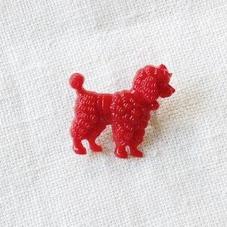 英国acorn & will「poodle dog brooch (Sサイズ)」プードル・赤