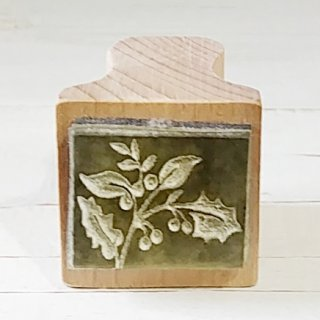 The English Stamp Company 「 Square Holly(四角いヒイラギ)」スタンプ