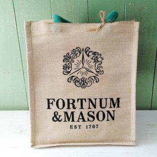 Fortnum & Mason「Jute Bag 縦型Mサイズ(取り外せるボトル立ての仕切り付き)」