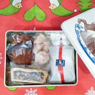 「英国Thornback & Peel×Terakado クリスマス焼菓子BOX(うさぎプディング缶)」 (賞味期限2020.12.24)