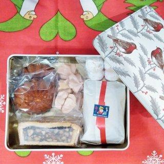 「英国Thornback & Peel×Terakado クリスマス焼菓子BOX(ロビン缶)」 (賞味期限2020.12.24)