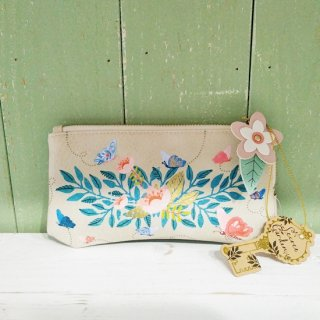 <img class='new_mark_img1' src='https://img.shop-pro.jp/img/new/icons12.gif' style='border:none;display:inline;margin:0px;padding:0px;width:auto;' />HOUSE OF DISASTER 「Secret Garden Flower Makeup Bag」横長ファスナーポーチ