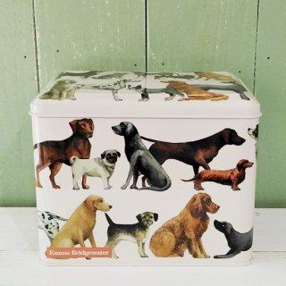<img class='new_mark_img1' src='https://img.shop-pro.jp/img/new/icons12.gif' style='border:none;display:inline;margin:0px;padding:0px;width:auto;' />Emma Bridgewater 犬柄の缶(長方形の缶)「Dogs Extra Large Caddy」エマブリッジウォーター