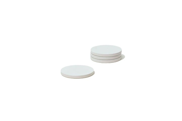 soil / ソイル / COASTER large circle 4P (white)