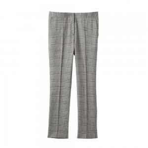 SEA Glen check Stretch wool Pin Tuck Trousers