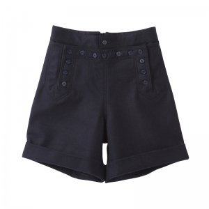 SEA Vintage Fly Front Melton Shorts