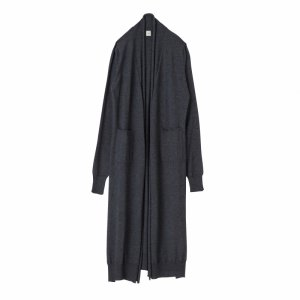 SEA Cashmere Silk Shawl-Collar Long Cardigan