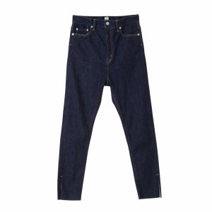 [SALE] SEA Vintage Extra High-rise Cashmere-Touch Skinny Slit Denim Pants