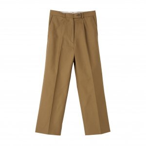 SEA Cotton Serge Tuck-Trousers