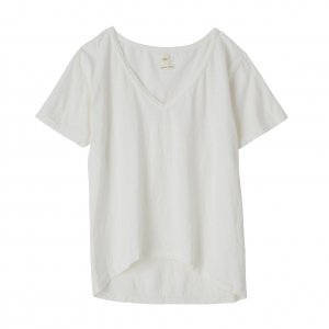 SEA Vintage Circular-Knit V-neck Loose Tshirt