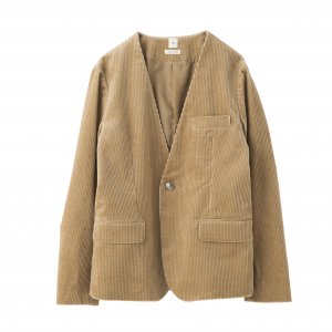 SEA Vintage Corduroy Collarless Tailored Jacket