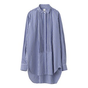 SEA Gingham check Tuxedo shirt