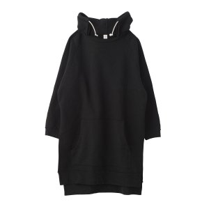 SEA Vintage Raised Back Oversized Hooded Sweat Dress