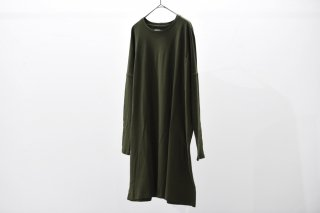 house of the very island's 胸ポケットゆったりカットソー khaki