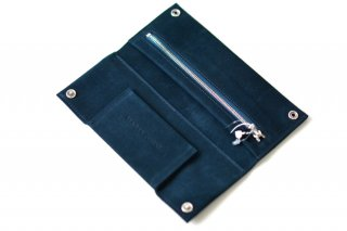 MARIA JOBSE LONG WALLET navy suede